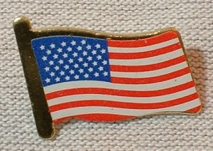 American Flag Clutch Pin - (click photo for additional pics)