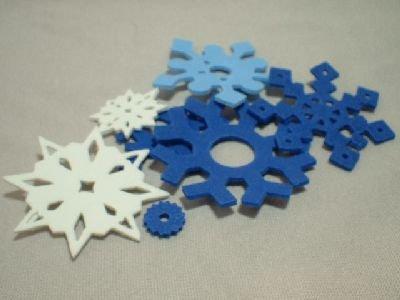40+ Assorted Foam Snowflakes