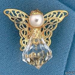 Acrylic Crystal Angel Pin