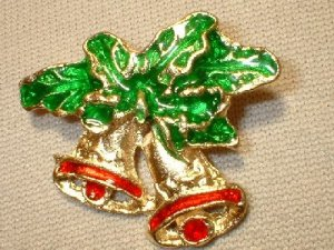 Christmas Bells Pin/Broach
