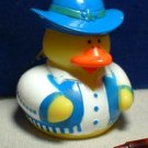 Cowgirl Rubber Ducky with Blue Vest