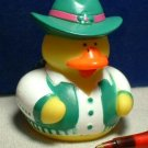 Cowgirl Rubber Ducky with Green Vest