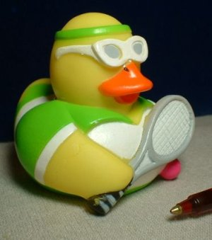 Tennis Rubber Ducky - Green