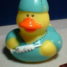 Doctor Rubber Ducky with Green Scrubs