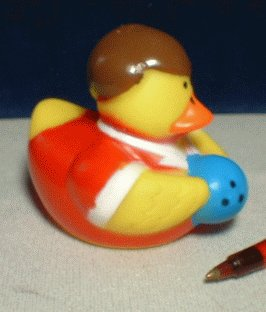 Bowling Rubber Ducky - Male with Ball