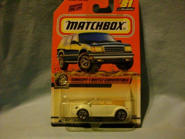 Matchbox Volkswagon Concept 1 Convertible