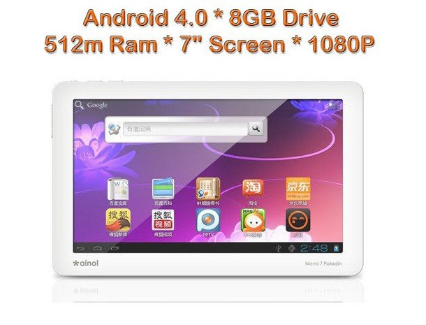 "Android 4.0 Tablet 7 "" 1GHZ 
