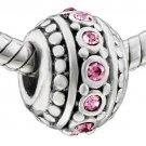 Pink CZ Crystal Barrel  025