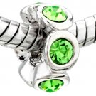 Peridot CZ Crystal Spacer  029