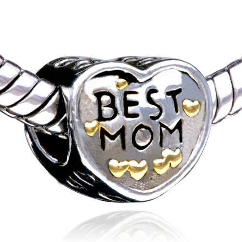 """Best Mom"" Heart w/ Gold Hearts 049"