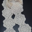 Crochet Scarf Cream Motif