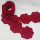 Crochet Scarf Red Medallion Motif