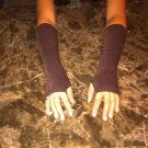 Solid Color Fingerless Gloves (Coffee)