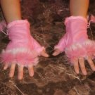 Furry Fingerless Gloves (Pink)