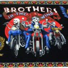 Skulls & Brothers in the Wind Motorcycle Bikers Wallhanging