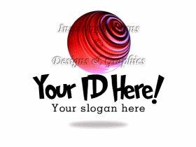 Sphere w Slap Stick Font Logo 23