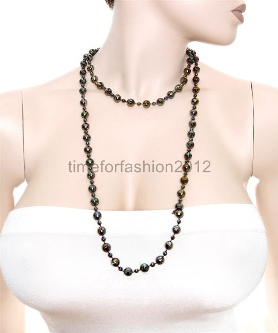 FASHION NECKLACE, SUPER CHIC AND SEXY MULTI BEAD CUTE COLORFUL METALLIC LOOK POPULAR