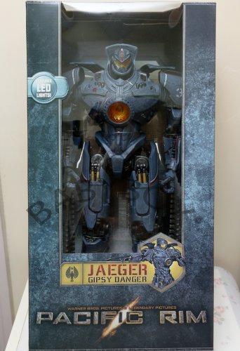 """Pacific Rim Jaeger Gipsy Danger 18"""" LED Lighting PVC Action Figure NECA"""