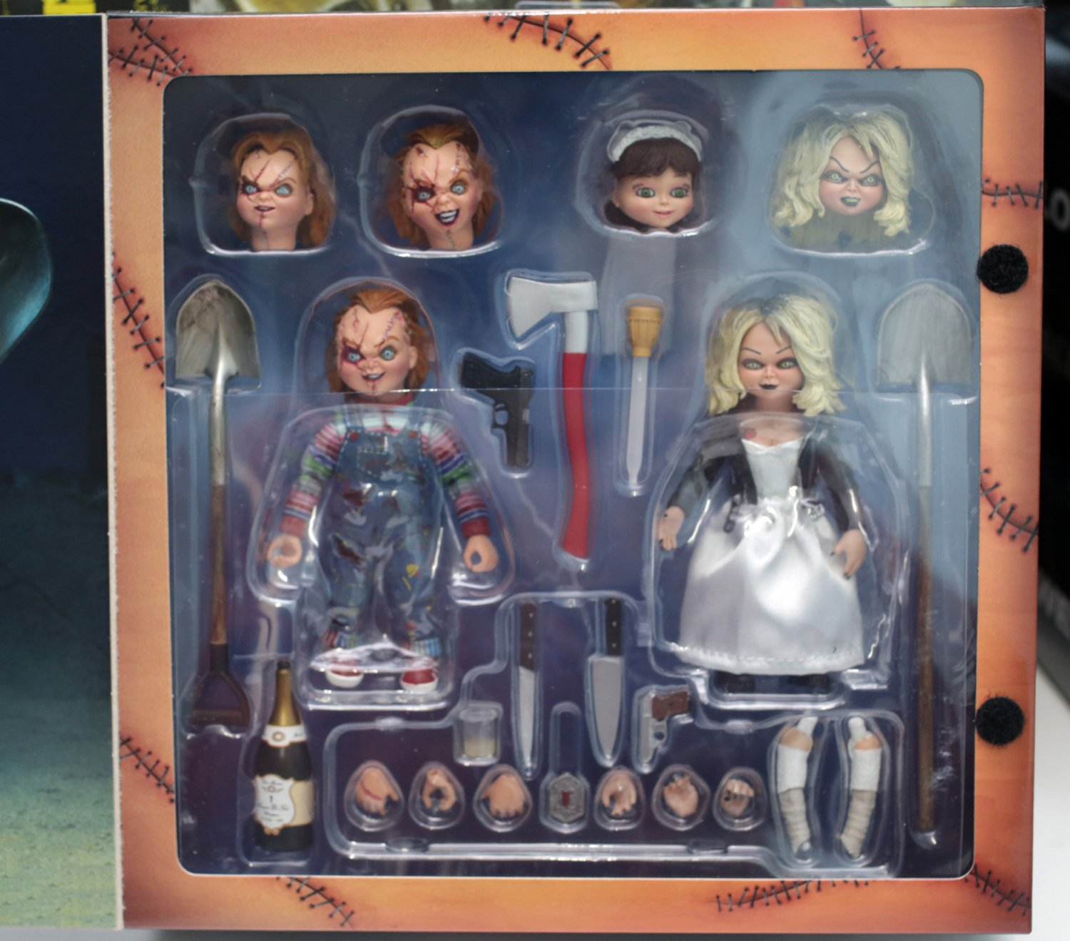Ultimate Chucky & Tiffany Action Figure NECA  (Free Shipping)