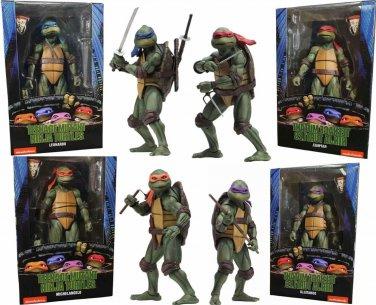 Tmnt Teenage Mutant Ninja Turtles 1990 Movie Set Of 4 Action