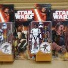"Star Wars Force Awakens Rex Finn Plutt 3.75"" Set of 3 Figure Hasbro (Free Shipping)"