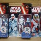 "Star Wars Force Awakens Snowtrooper Stromtrooper 3.75"" Set of 3 Figure Hasbro (Free Shipping)"