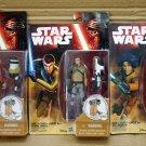 "Star Wars Force Awakens Plank Jarrus Bridger 3.75"" Set of 3 Figure Hasbro (Free Shipping)"