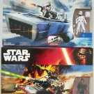 Star Wars Force Awakens Snowspeeder Landspeeder Set of 2 Figure 3.75 Hasbro (Free Shipping)