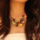 National Tibet Color Flower Necklace B-074 N020
