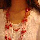 Red National Tibet Turquoise Necklace A-023 N022