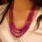 National Tibet three layer bead necklace E-003 N025