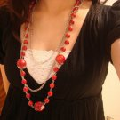 National characteristics of multilayer Tibet red beads necklace E-012 N053