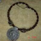 Tibet national beads carved circular fashion personality elements Necklace C-011 N076