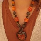 Tibet national Vintage stained fashion personality elements Necklace F-38 N081