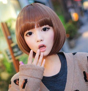 Free Shipping high quality Guarantee100% A++++++ Hot-sales brand new Short wig Qi Liu bobo