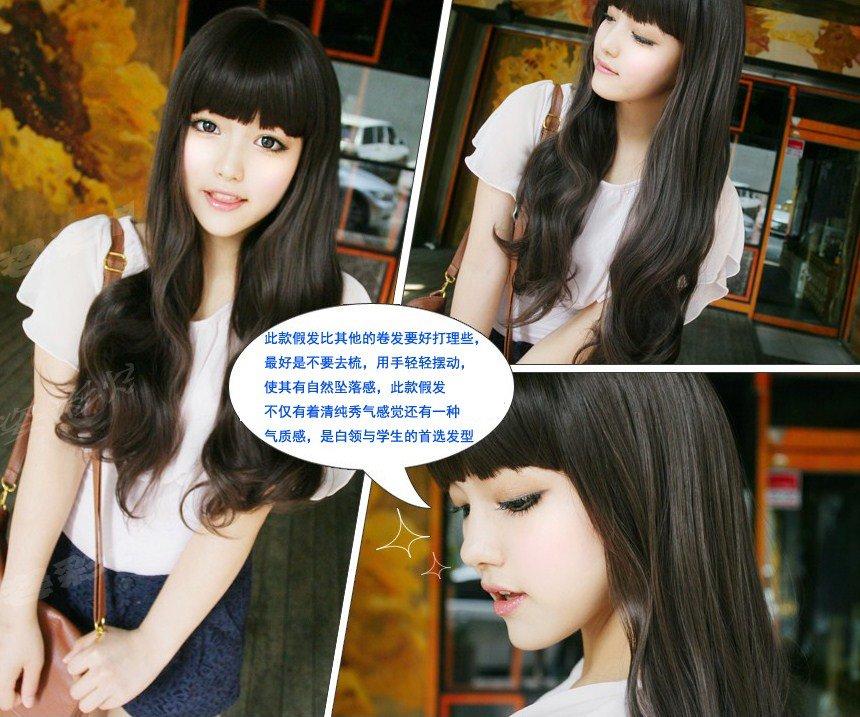 Free Shipping high quality Guarantee100% A++++++ Hot-sales brand new  wig W005 Qi bangs long hair