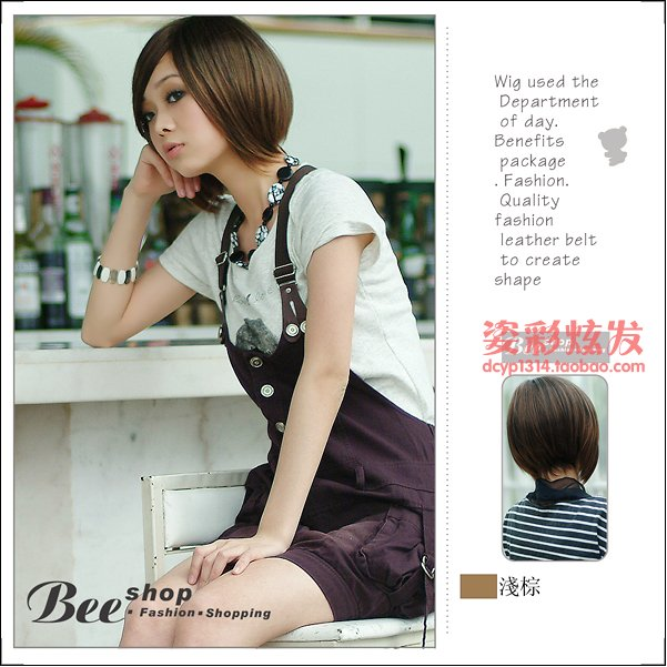 Free Shipping high quality Guarantee100% Hot-sales brand new  wig W020 Short straight hair BOBO