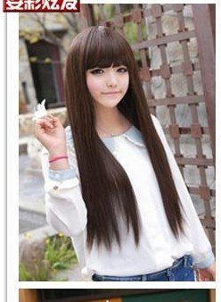 Free Shipping high quality Guarantee100% Hot-sales brand new  wig W035 Long straight hair