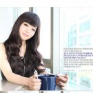 Free Shipping high quality Guarantee100% Hot-sales brand new  wig W041 Oblique bangs long hair