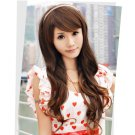 Free Shipping high quality Guarantee100% Hot-sales brand new  wig W046 Oblique bangs long hair