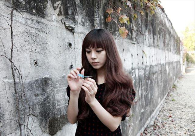 Free Shipping high quality Guarantee100% Hot-sales brand new  wig W049 Oblique bangs long hair