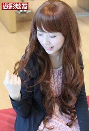 Free Shipping high quality Guarantee100% Hot-sales brand new  wig W057 Oblique bangs long hair