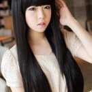 Free Shipping high quality Guarantee100% Hot-sales brand new  wig W044 Qi bangs long straight hair