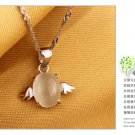 Free Shipping high quality 925Sterling Silver Guarantee100% Angel Necklace  N021