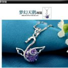 Free Shipping high quality 925Sterling Silver Guarantee100% Swan Pendant Necklace  N034