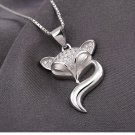 Free Shipping high quality 925Sterling Silver Guarantee100% Fox Necklace N055