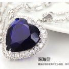Free Shipping high quality 925Sterling Silver Guarantee100% Heart of Ocean Necklace N056