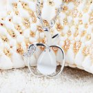 Free Shipping high quality 925Sterling Silver Guarantee100% Love apple necklace N064
