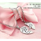 Free Shipping high quality 925Sterling Silver Guarantee100%  Cupid's key necklace N067