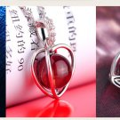 Free Shipping high quality 925Sterling Silver Guarantee100% Rotate Love Necklace N070